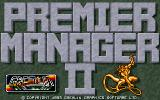 Premier Manager 2 DOS Title screen