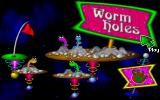 Fuzzy's World of Miniature Space Golf DOS To the worm holes --its title screen