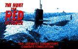 The Hunt for Red October Amstrad CPC Title screen