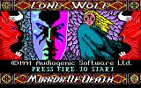Lone Wolf: The Mirror of Death Amstrad CPC Title screen