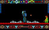 Lone Wolf: The Mirror of Death Amstrad CPC The reaper stands still, but fires constantly at you.