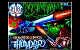 Blazing Thunder Amstrad CPC Title screen