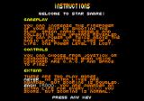 Star Sabre Amstrad CPC Welcome message, and instructions.