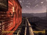 Fallout: New Vegas - Old World Blues Windows Train cars that would never run along the rail anymore.