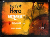 The First Hero Browser Title screen