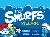 The Smurfs' Village iPad Title screen