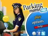 Parking Mania iPad Title screen and main menu (daytime version)