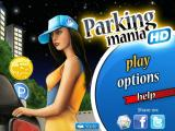 Parking Mania iPad Title screen and main menu (nighttime version)