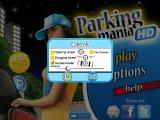 Parking Mania iPad Control options for steering method, sensitivity, and inverted layout for left-handed players