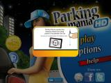 Parking Mania iPad Several help screens explain the different control methods and game objectives.