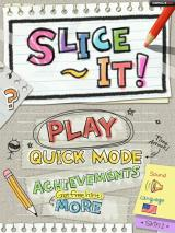 Slice It! iPad Main Menu