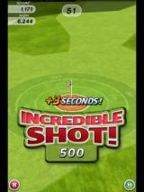 Flick Golf Android Hitting the red area gives a time increase