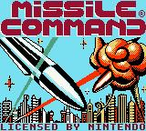 Missile Command Game Boy Color Title screen