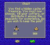 Heroes of Might and Magic II Game Boy Color Picking up a chest