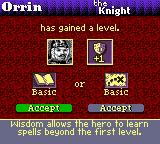 Heroes of Might and Magic II Game Boy Color Going level up