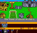 Heroes of Might and Magic II Game Boy Color Half of my town