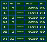 Putt & Putter Game Gear Scorecard