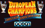 European Champions DOS Title screen