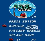 OutRun Game Gear The big choice