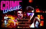 Crime Wave DOS Game Menu (MCGA/VGA)