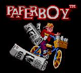 Paperboy Game Gear Title Screen