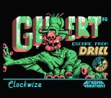 Gilbert: Escape from Drill MSX Loading screen
