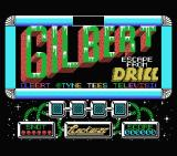 Gilbert: Escape from Drill MSX Title screen and scrolling credits