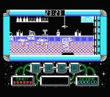 Gilbert: Escape from Drill MSX Getting attacked inside the milk bar.