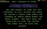 Star Wars Commodore 64 The opening story