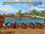 Sid Meier's Pirates!: Live the Life iPad One of the minigames: bombarding a city.