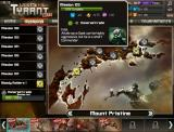 War Metal: Tyrant Browser Select your next mission