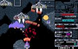 Flame Zapper Kotsujin PC-98 Fighter craft among rocks
