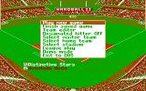 HardBall II DOS Game menu (CGA)