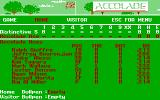 HardBall II DOS Player Select (CGA)