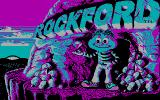 Rockford: The Arcade Game DOS Title screen (CGA)