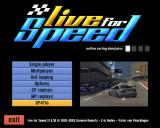 Live for Speed Windows The simple but functional main menu.
