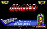 Arkanoid Atari ST Title screen
