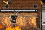 Batman Begins Game Boy Advance Using the pipes to avoid the fire