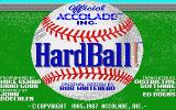 HardBall! Atari ST Title screen