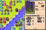 Advance Wars Game Boy Advance Terrain information screen. Movement cost of various units as well as defense value are shown.