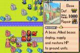 Advance Wars Game Boy Advance In this mission, you have access to Base, which can deploy ground units.