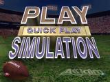NFL Quarterback Club 97 DOS Main menu