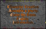 Yendorian Tales: The Tyrants of Thaine DOS Main Menu