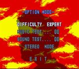 Ultra Seven SNES The Option Menu