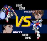 Shin Kidō Senki Gundam Wing: Endless Duel SNES Pre-fight screen