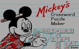 Mickey's Crossword Puzzle Maker DOS Title (CGA)