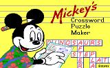 Mickey's Crossword Puzzle Maker DOS Title (EGA)