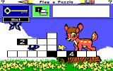 Mickey's Crossword Puzzle Maker DOS Play Puzzle (EGA)