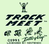 Track Meet Game Boy Title screen