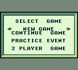 Track Meet Game Boy Main menu